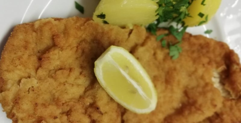 Steirerschnitzel mit Senf und Kren
